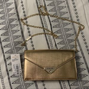 Michael Kors Grace Gold Clutch